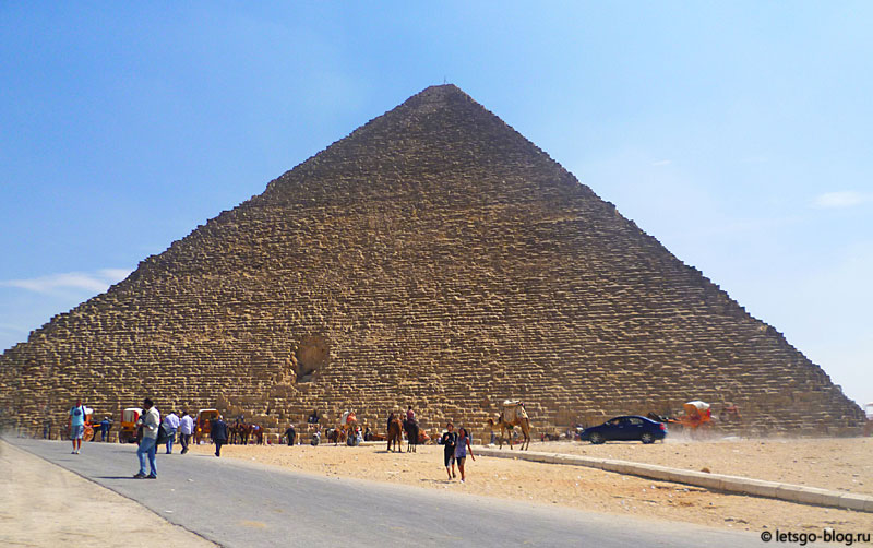 Великая пирамида Хеопса. Вход