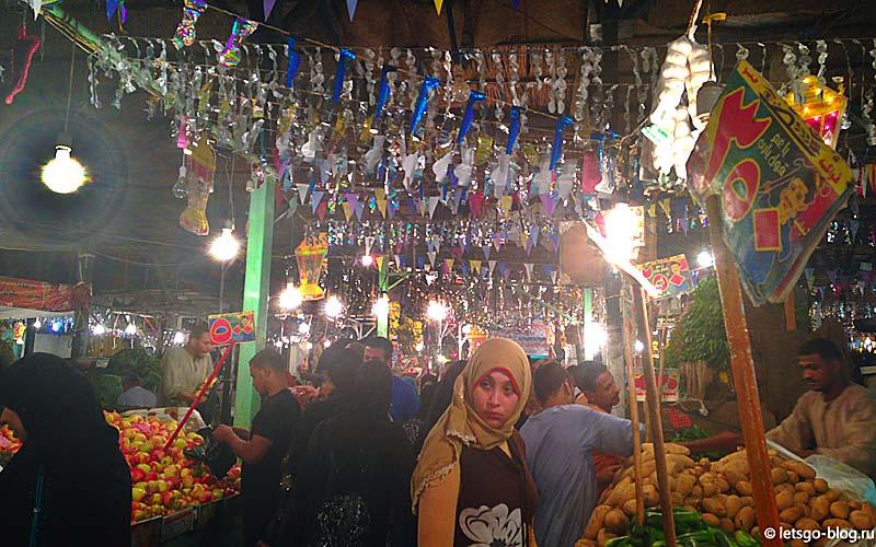 рынок в районе Дахар в Хургаде