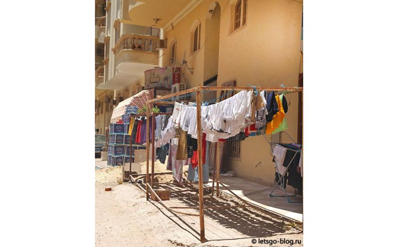 белье на балконе Хургада