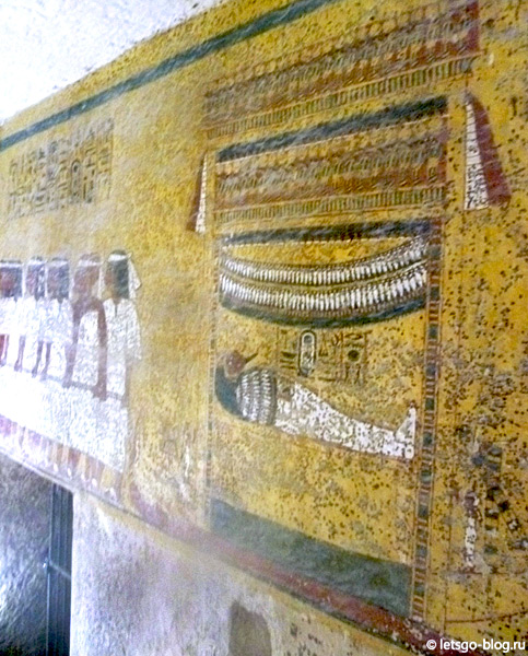 Настенные росписи в гробнице Тутанхамона