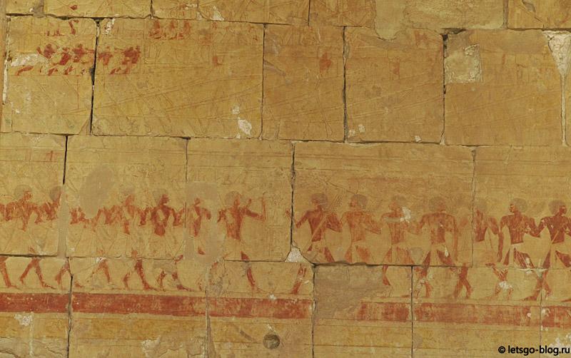 Настенные росписи в Храме Хатшепсут. Луксор