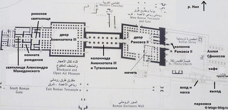 План Луксорского храма