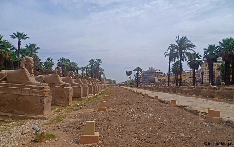 Луксорский храм. Аллея Сфинксов