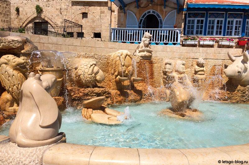 Старый Яффо. Площадь Древностей, фонтан Зодиака
