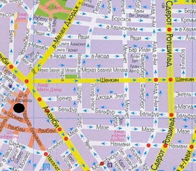 Белый город, карта