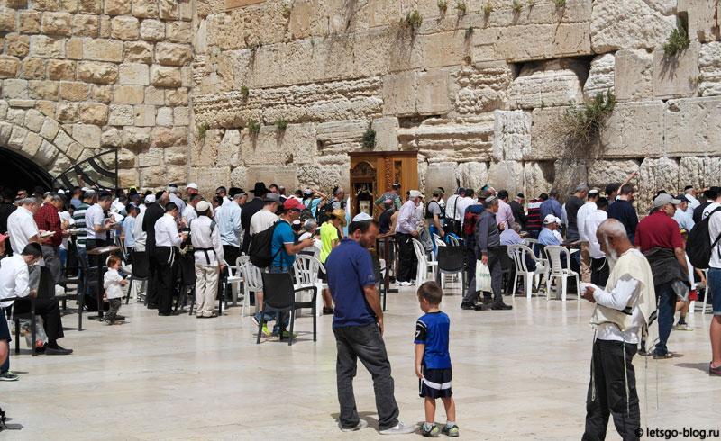 Иерусалим, Стена Плача, мужская половина