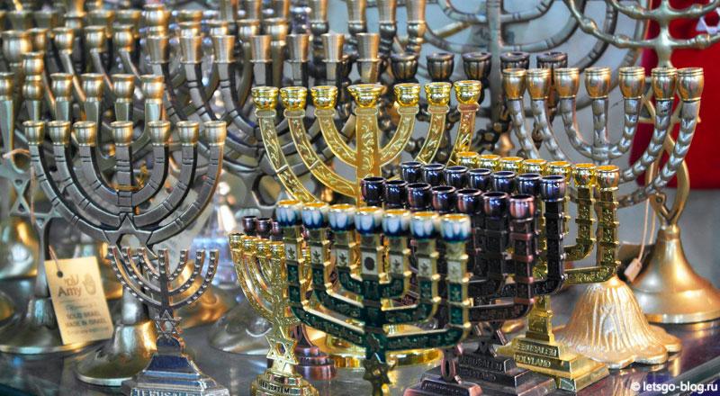 Старый город, Иерусалим, еврейский семисвечник