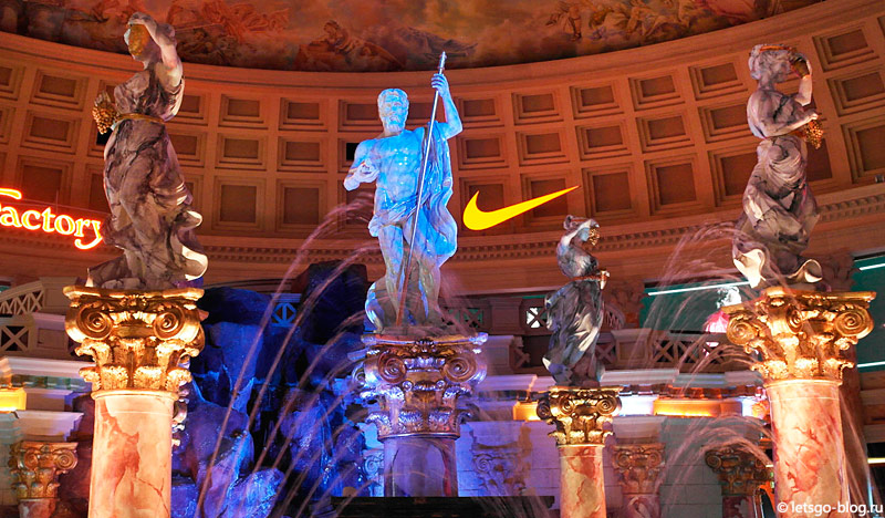 Живые статуи – шоу Fall of Atlantis в отеле Caesars Palace