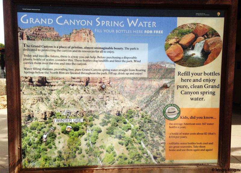 Большой каньон: информационный стенд