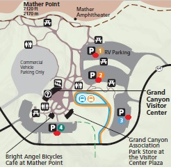 Парковка на Большом каньоне, схема