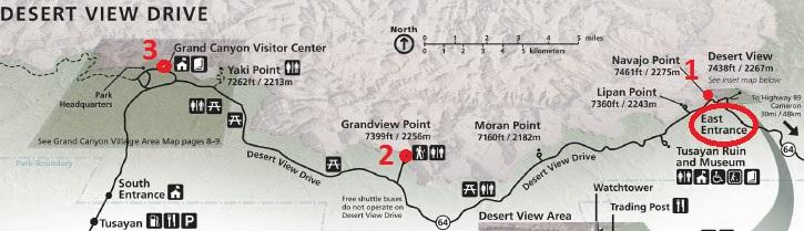 Маршрут по Большому каньону, Desert View Road