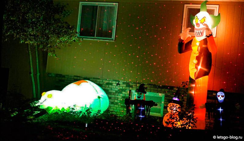 Украшения на Хэллоуин в Америке