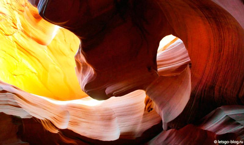 Нижний каньон Антилопы открытка