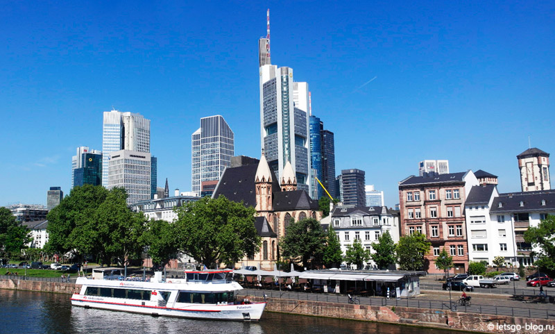 Железный мостик Франкфурт