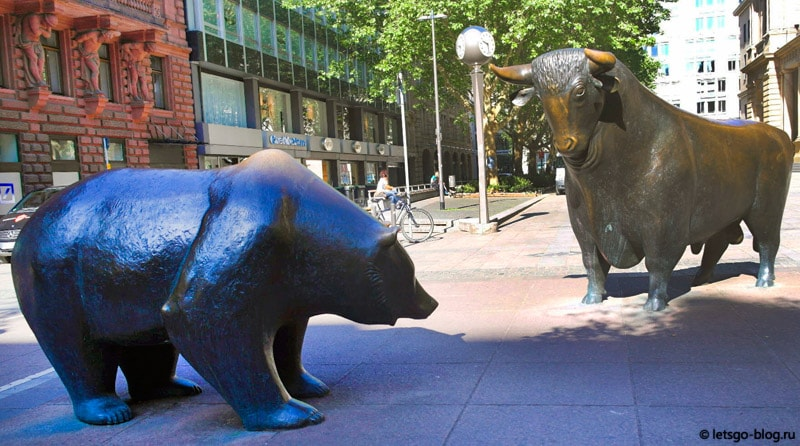 Медведь и бык Франкфурт