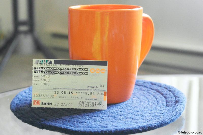 Билет на проезд на метро-поездной системе RMV Франкфурта