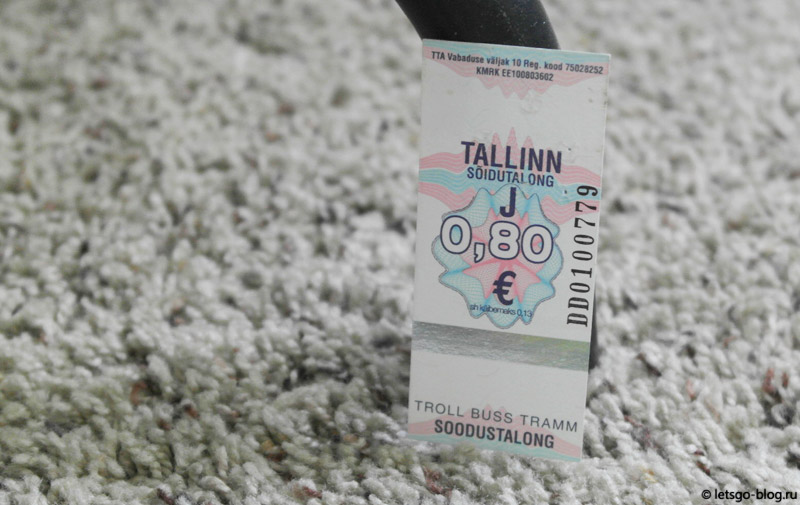 Билетик на трамвай, автобус или троллейбус в Таллинне