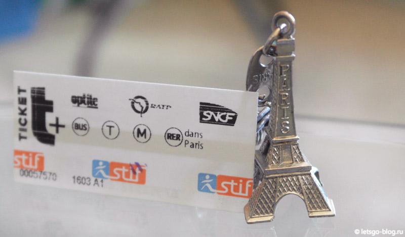 Билет на метро Париж