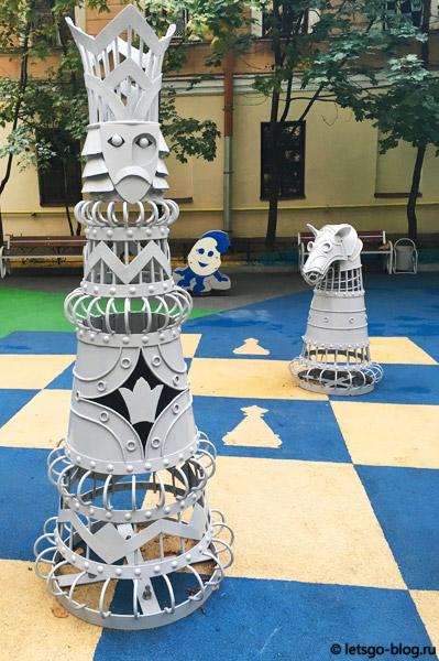 Шахматный дворик Питер