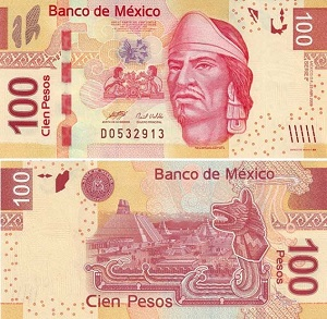 Купюра 100 песо Мексика