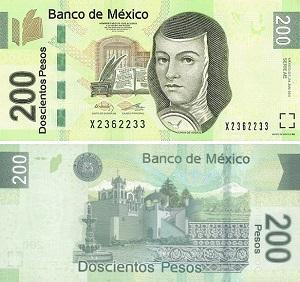 Купюра 200 песо Мексика