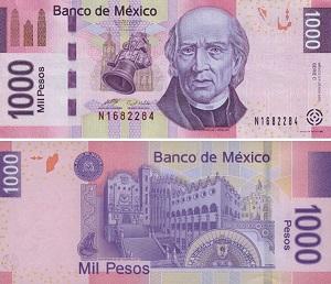 Купюра 1000 песо Мексика