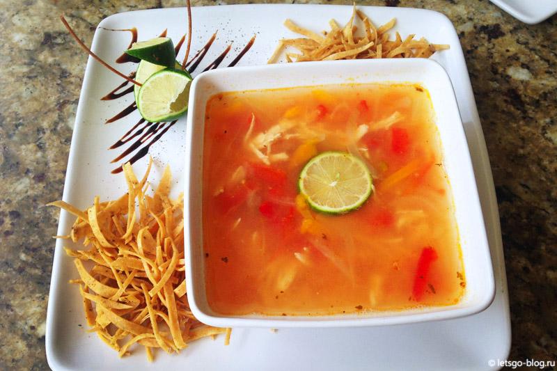Суп из торильи Мексика