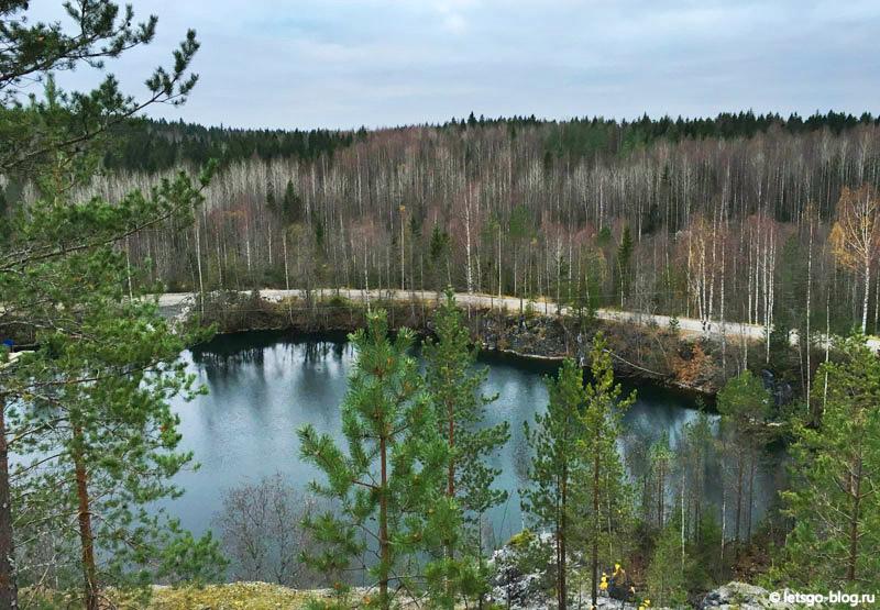 Озеро Монферрана Рускеала