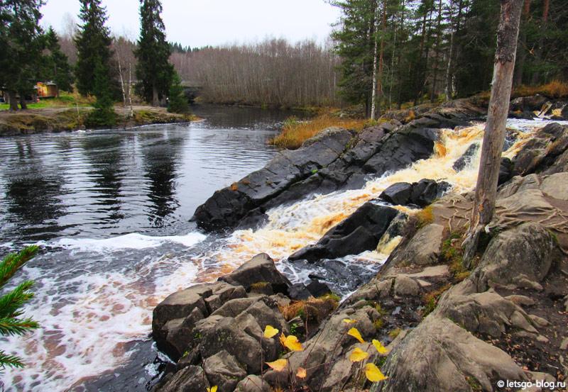 Водопад Ахвенкоски Карелия