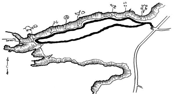 Rinconada Canyon схема