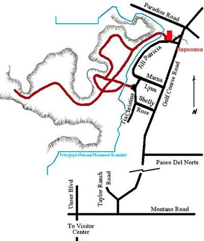 каньон Пиэдрас Маркадас схема
