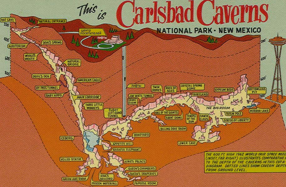 Карлсбадские пещеры план