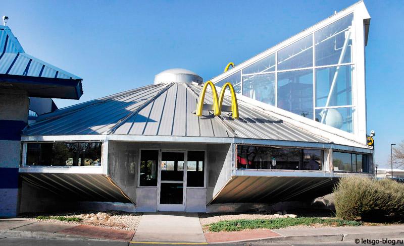 МакДональдс в виде летающей тарелки, Розуэлл