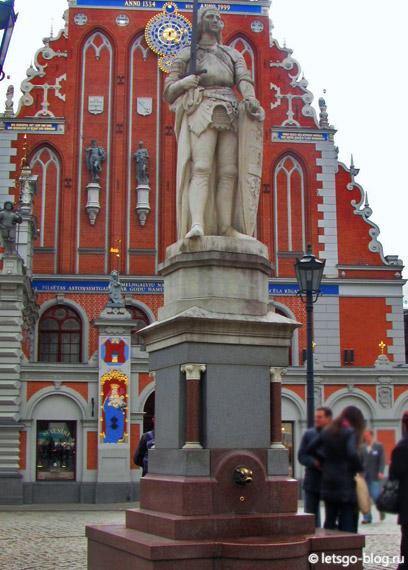 статуя роланда рига