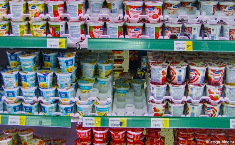 Йогурты Валио