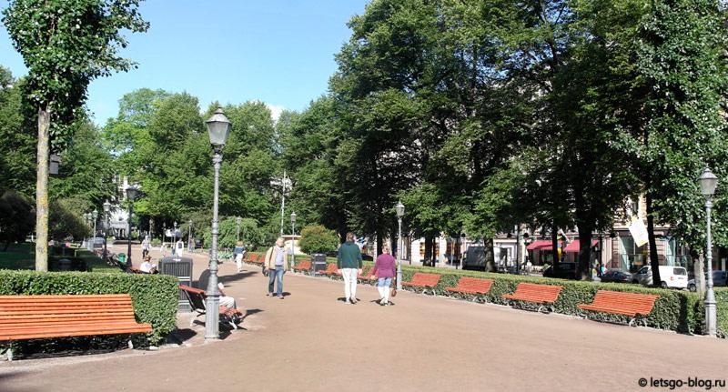Бульвар Эспланада Хельсинки