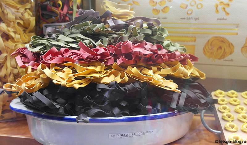 Разноцветная паста из Италии