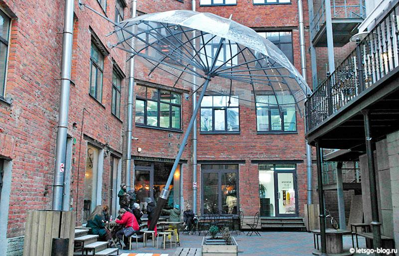 Памятник зонтику