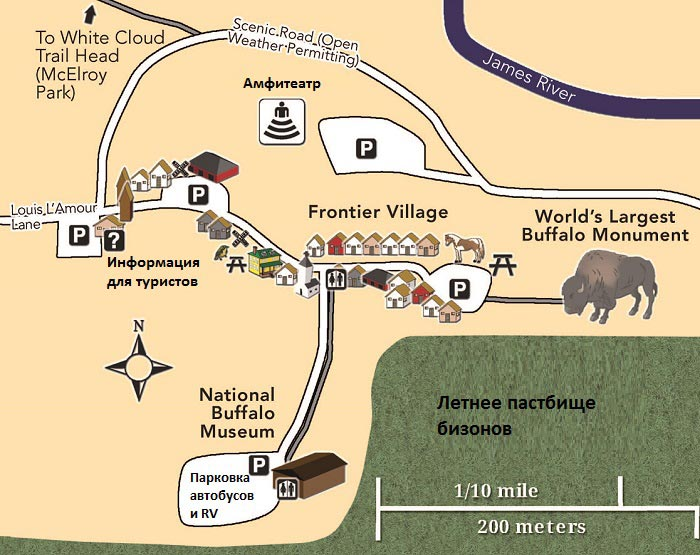 Карта деревни Frontier Village