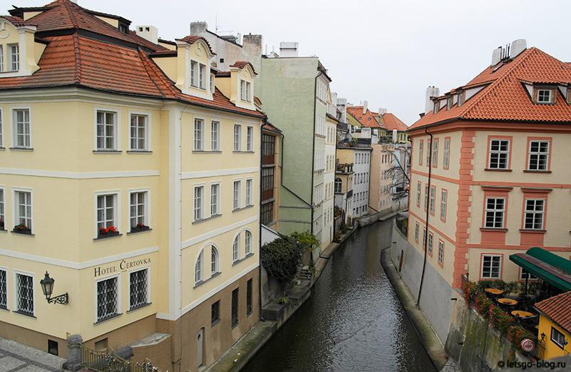 Река Чертовка Прага